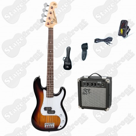 SX 3/4 SIZE BASS GUITAR & AMP PACKAGE SB2SK34TS