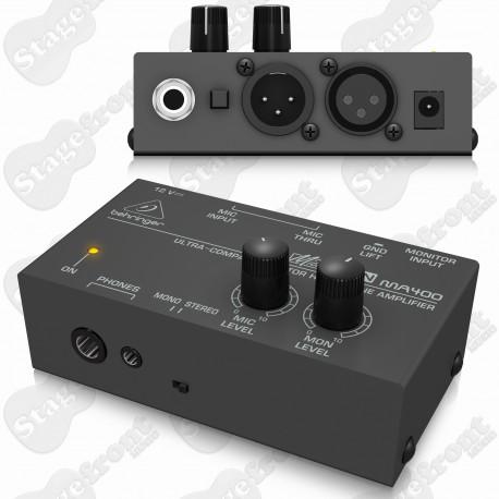 BEHRINGER MICROMON MA400 ULTRA-COMPACT MONITOR HEADPHONE AMP