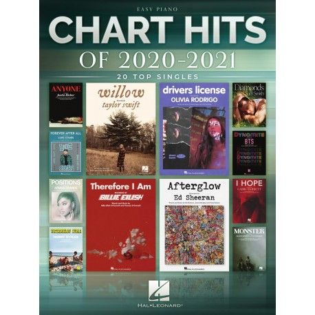 CHART HITS OF 2020-2021 FOR EASY PIANO TOP HITS