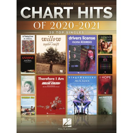 CHART HITS OF 2020-2021 FOR PVG PIANO VOCAL GUITAR TOP HITS