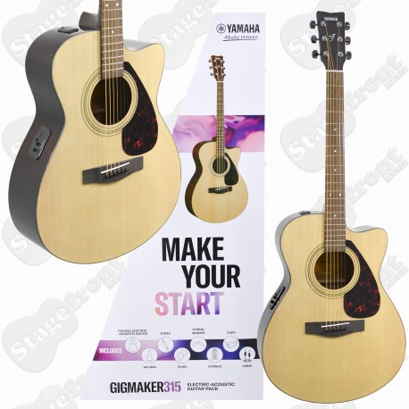 YAMAHA GIGMAKER 315 ACOUSTIC ELECTRIC GUITAR PACKAGE