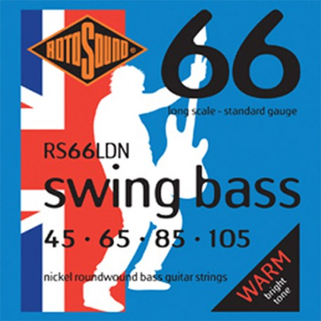 ROTOSOUND RS66LDN (45-105) SWING BASS NICKEL ELECTRIC BASS 4 STRING SET
