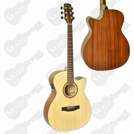 MARTINEZ SMALLER BODY STEEL STRING ACOUSTIC WITH PICKUP – MFC-15-OP