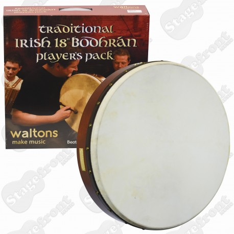 "BODHRAN WALTONS 18"" ""CLASSIC PLAIN"" w/Bag & DVD"