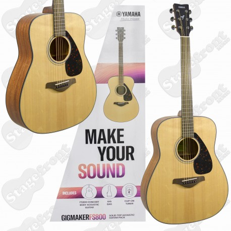 YAMAHA GIGMAKER FG800M MATTE FINISH SOLID TOP ACOUSTIC GUITAR PACK
