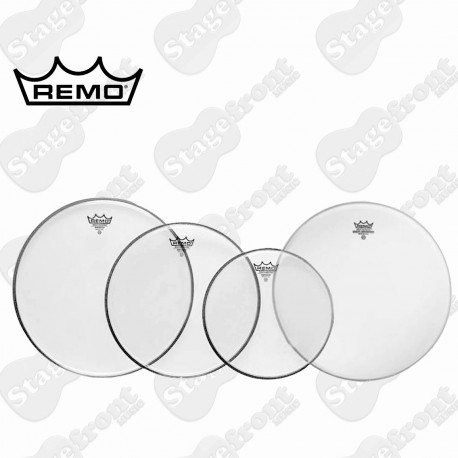 """REMO CLEAR DRUM HEAD PACK EMPEROR FUSION SKINS 10"""", 12"""", 14"""" + 14"""" PP-0240-BE"""