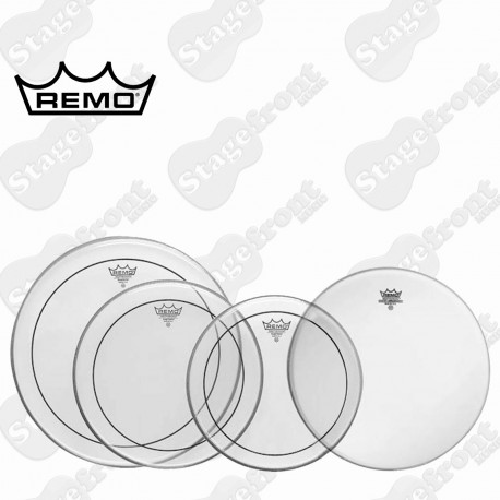 """REMO PINSTRIPE CLEAR DRUM HEAD PACK PRO ROCK SKINS 12"""", 13"""", 16"""", 14"""" PP-0320-PS"""