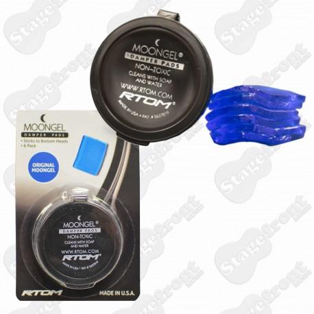 MOONGEL BLUE DAMPER PADS FOR DRUMS 6 PACK
