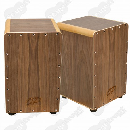CAJON OPUS PERCUSSION WALNUT WOODEN FINISH WITH DELUXE CARRY BAG. FREE GIG BAG