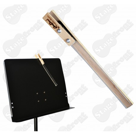 """MUSIC STAND CLIP FOR ORCHESTRAL MUSIC STAND. 10"""" PEG TO SECURE BOOK PAGES - NEW"""