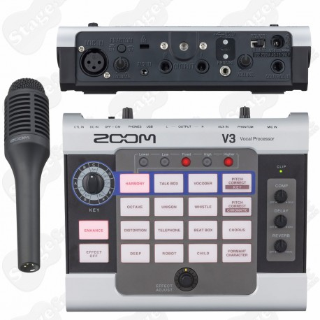 ZOOM V3 VOCAL PROCESSOR WITH SHOTGUN MICROPHONE