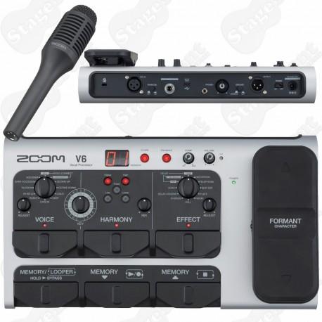 ZOOM V6 VOCAL PROCESSOR WITH SHOTGUN MICROPHONE