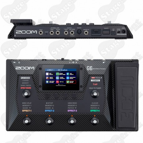 ZOOM G6 MULTI-EFFECTS MODELING PROCESSOR FOR GUITAR PLAYERS