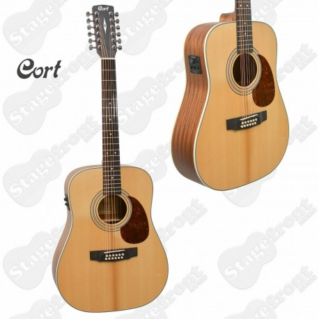 CORT EARTH 70 12 STRING ELECTRIC ACOUSTIC SOLID TOP GUITAR EARTH 70-12E