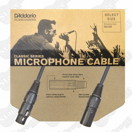 D'ADDARIO PLANET WAVES CLASSIC SERIES XLR MICROPHONE CABLES