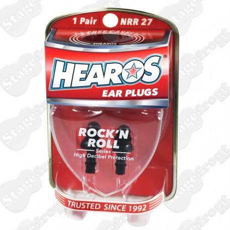 HEAROS HS309 ROCK 'N ROLL. TRIPLE RING SEALED EAR PLUGS/FILTERS RE-USABLE