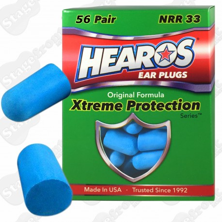HEAROS 56 pairs XTREME PROTECTION FOAM EAR PLUGS 33db NOISE REDUCTION