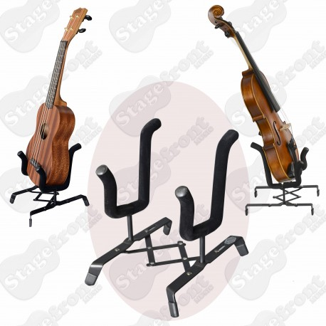 UKULELE STAND CONCERTINA STYLE TO SUIT CONCERT / TENOR UKES & ALL SIZE VIOLINS