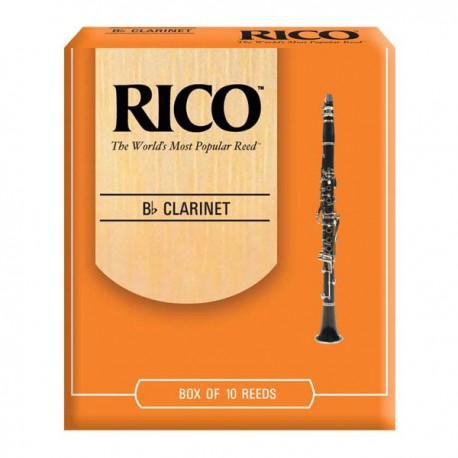 RICO B FLAT CLARINET REEDS 10 PACK