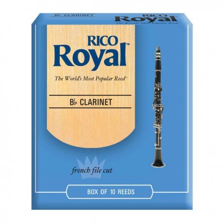 RICO ROYAL B FLAT CLARINET REEDS 10 PACK