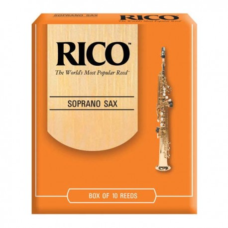 RICO SOPRANO SAXOPHONE REEDS 10 PACK